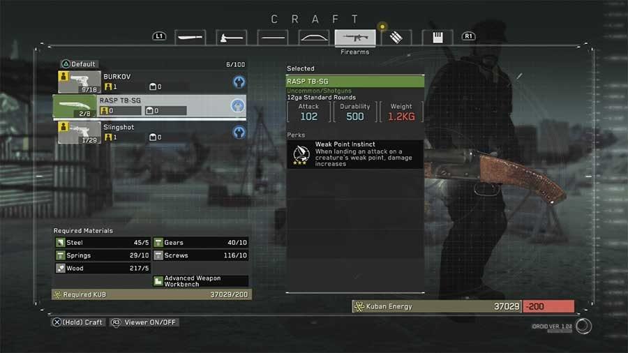 How To Unlock The RASP TB-SG Shotgun In Metal Gear Survive