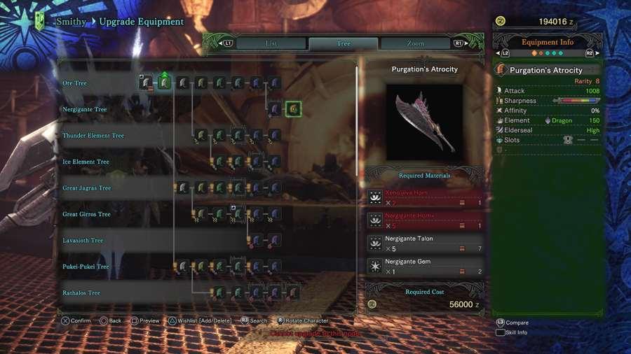Where To Find The Nergigante Horn+ In Monster Hunter World