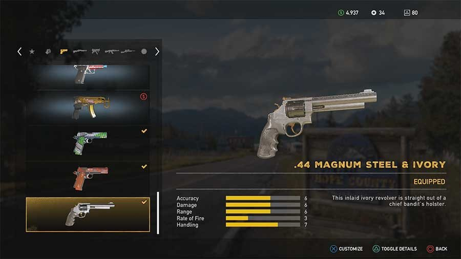 5 Best Weapons In Far Cry 5 44 Magnum Steel & Ivory