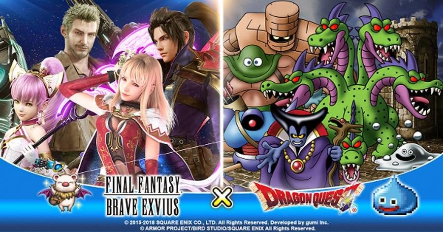 Final Fantasy Brave Exvius Dragon Quest Collaboration - Gamers Heroes