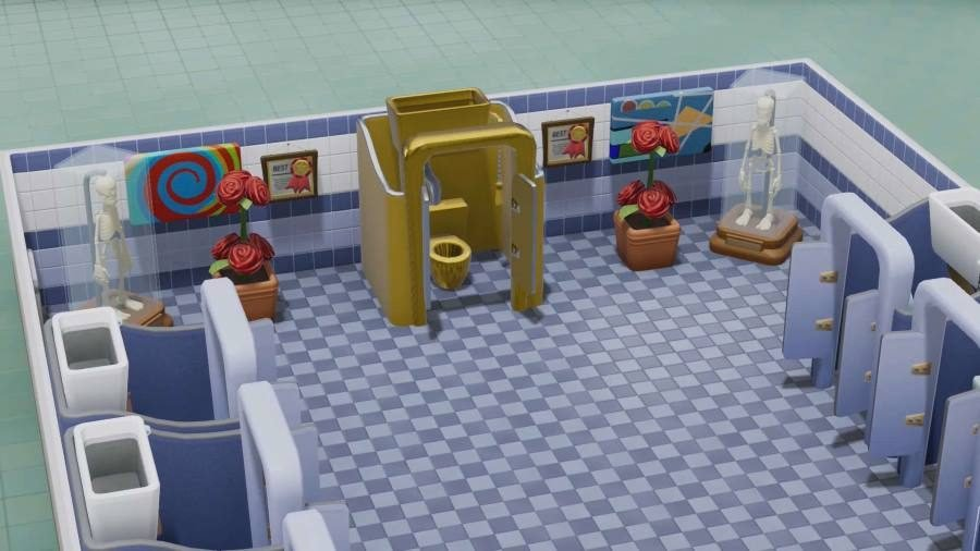 Two Point Hospital Golden Toilet - Gamers Heroes