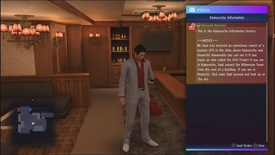 Where To Find The UFO Finder In Yakuza 6