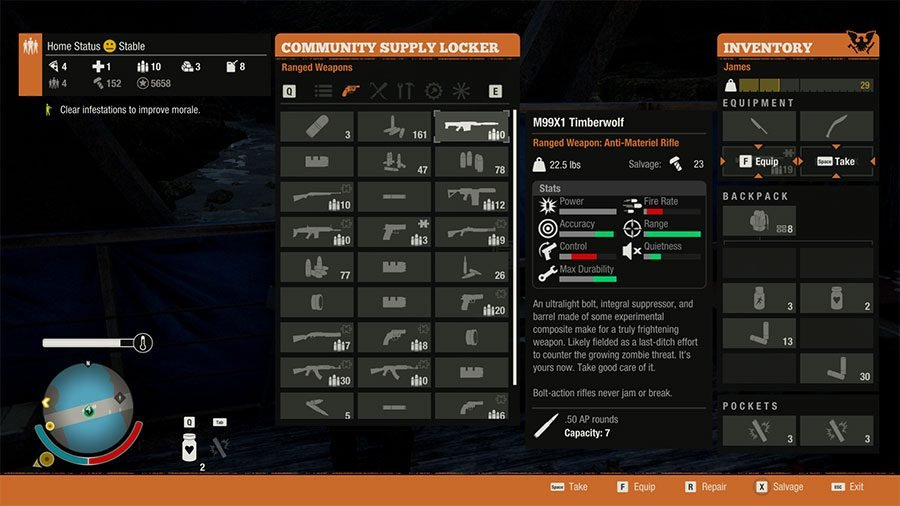 Best Weapons In State Of Decay 2 - #1 M99X1 Timberwolf