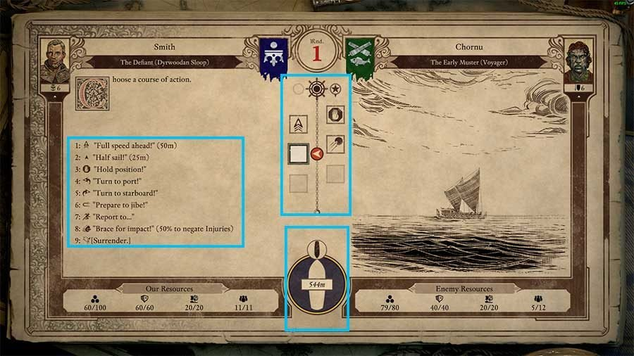 Pillars Of Eternity II Deadfire Ship Combat Guide - Combat Screen Options