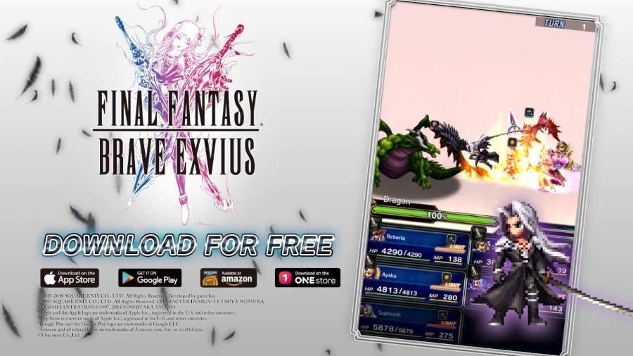 Sephiroth Final Fantasy Brave Exvius - Gamers Heroes
