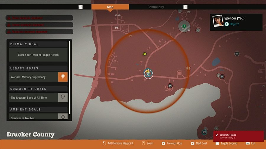 State Of Decay 2 Vehicle Location Guide - Rhames V