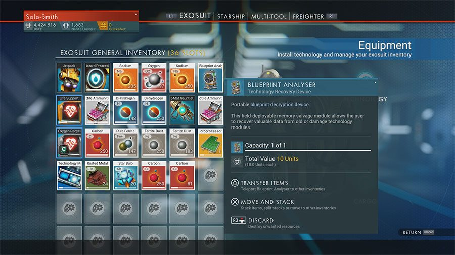 How To Get The Blueprint Analyser In No Man's Sky Next