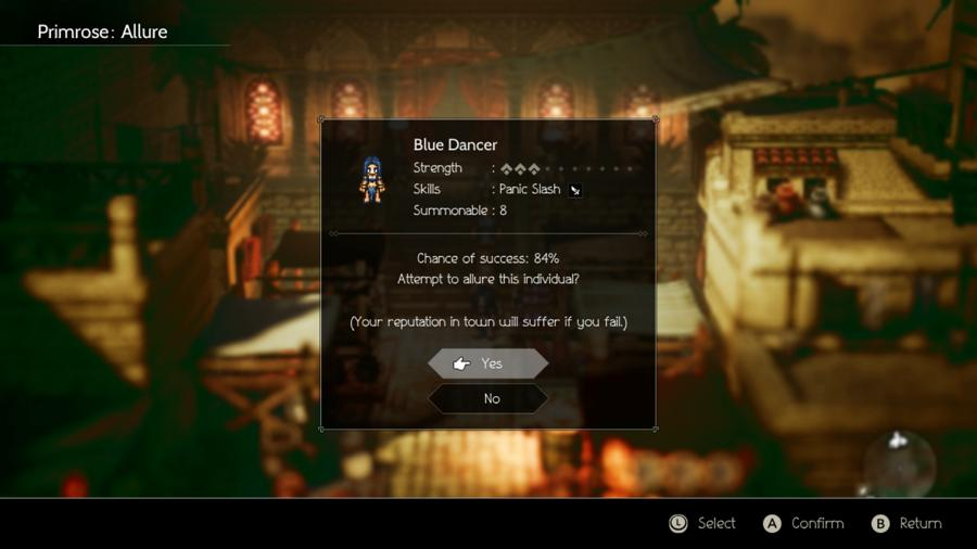 How To Increase Allure Chance With Primrose In Octopath Traveler