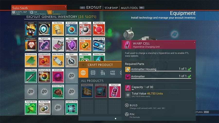 How To Make Warp Cells In No Man's Sky Next