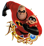 Kingdom Hearts Union The Incredibles 2 - Gamers Heroes (1)