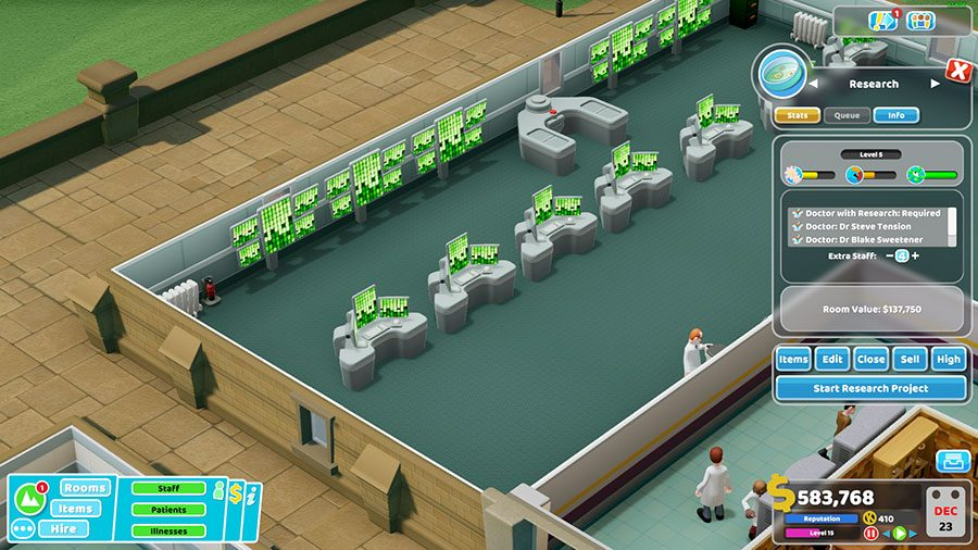 Two Point Hospital Research Guide