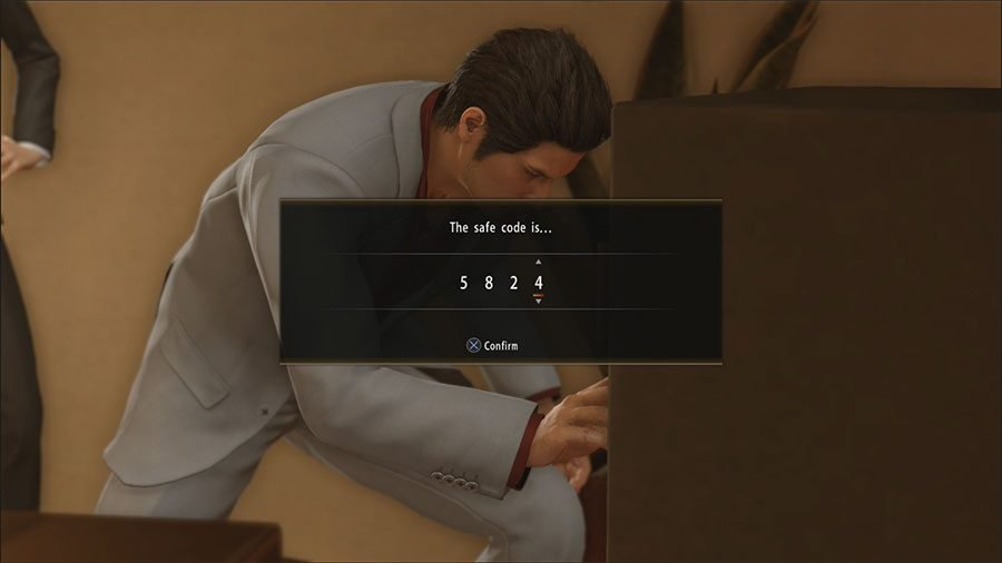 What Is The Safe Code In Chapter 11 In Yakuza Kiwami 2