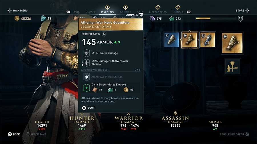 Assassin S Creed Odyssey Legendary Armor Guide Gamersheroes