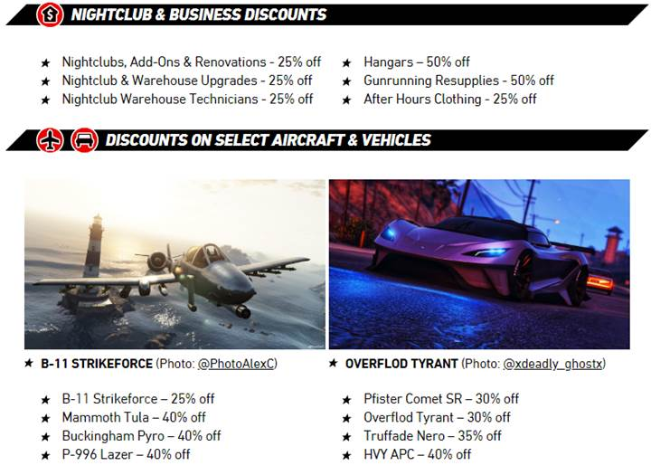 GTA Online Discounts on Select Aircraft and Vehicles - Gamers Heroes