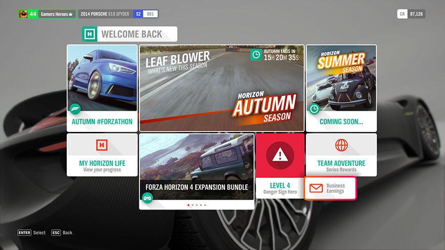 How To Claim Business Earnings In Forza Horizon 4