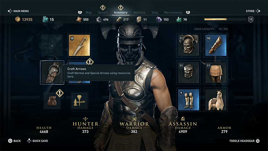 How To Get More Arrows & Craft Arrows In Assassin's Creed Odyssey