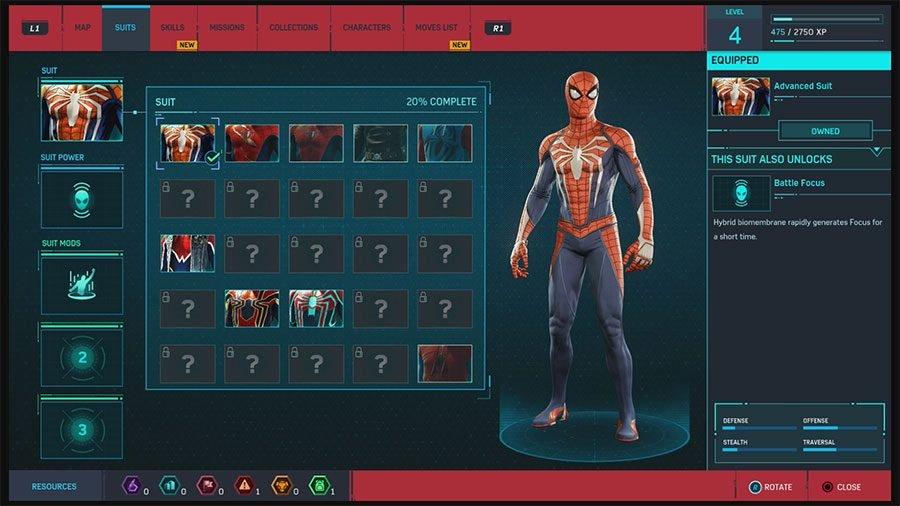 Marvel's Spider-Man Suit Unlock Guide