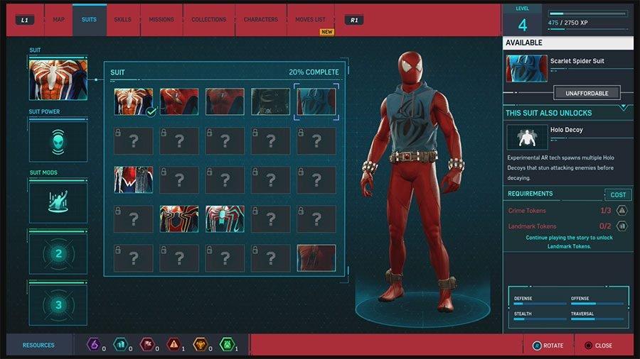 Scarlet Spider Suit