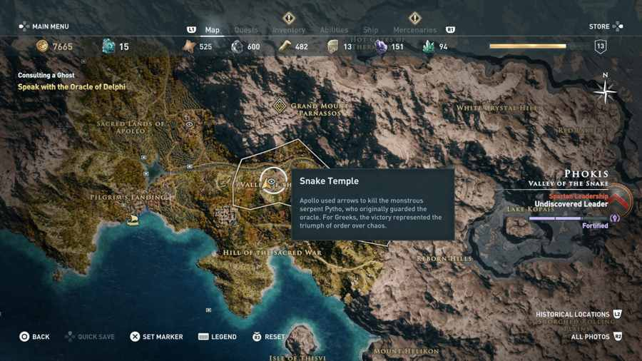 Snake In The Grass Guide Assassin's Creed Odyssey