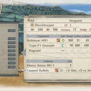 Valkyria Chronicles 4 Accessory Guide