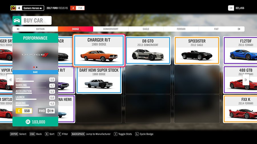 What Car To Pick At The Start Of Forza Horizon 4 Dodge Charger RT
