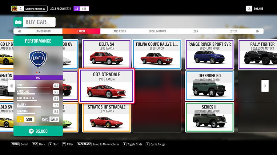 What Dirt Car To Pick In Forza Horizon 4 Lancia 037 Stradale
