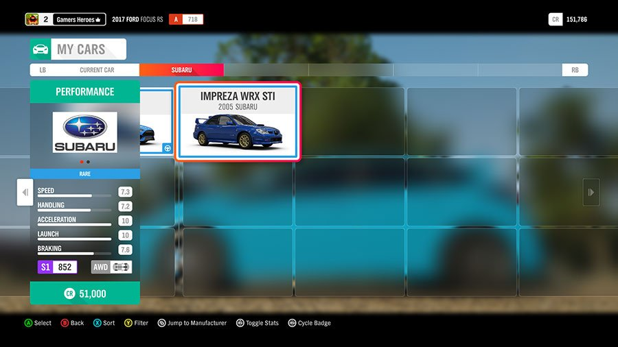 What Dirt Car To Pick In Forza Horizon 4 Subaru Impreza WRX STI