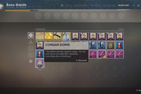 What To Do With Corsair Down In Destiny 2: Forsaken