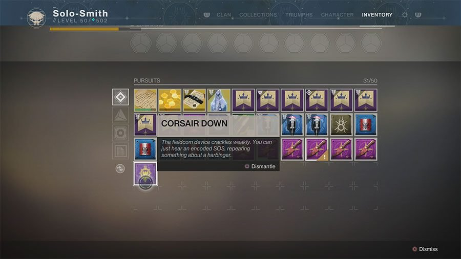 What To Do With Corsair Down In Destiny 2 Forsaken