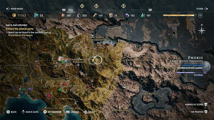 Where To Find Deer In Assassin's Creed Odyssey Location
