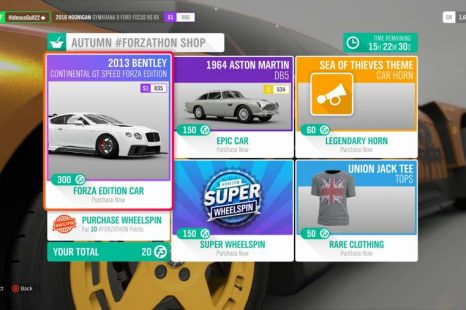 Where To Spend Forzathon Points In Forza Horizon 4