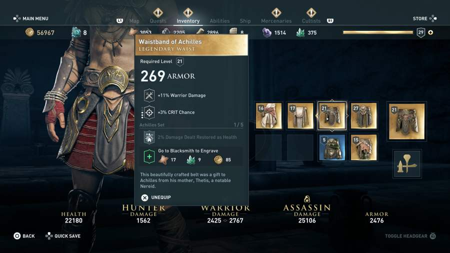 Assassin's Creed Odyssey Armor Set Location Guide