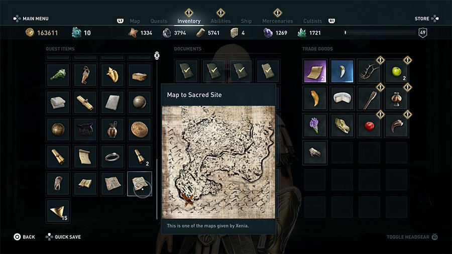 Assassin's Creed Odyssey Sacred Vows Guide Map
