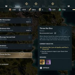 Assassin's Creed Odyssey Throw The Dice Guide