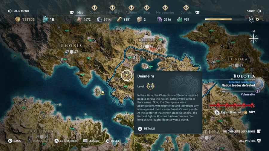 Heroes Of The Cult Clue Location AC Odyssey
