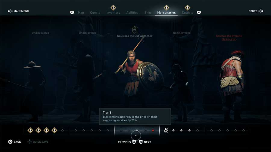 How To Increase Mercenary Tier Level In Assassin's Creed Odyssey Next Tier