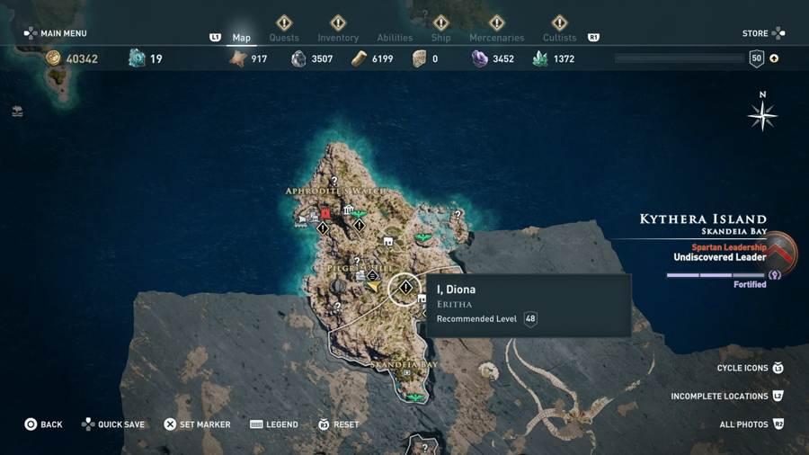 I Diona Quest Location AC Odyssey