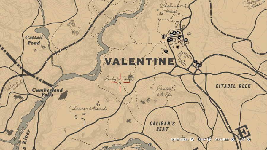 Killer Map Location Red Dead 2