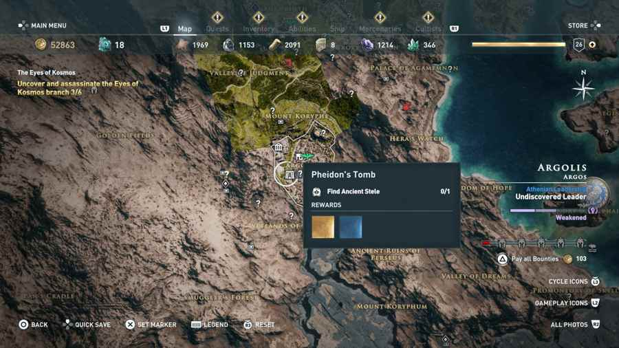 Assassin S Creed Odyssey Tomb Location Guide Gamersheroes