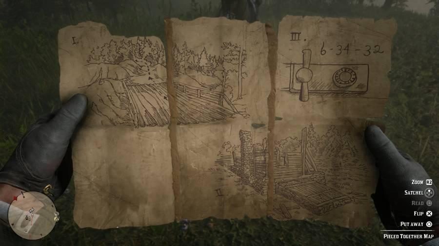 Red Dead 2 Killer Clue Map