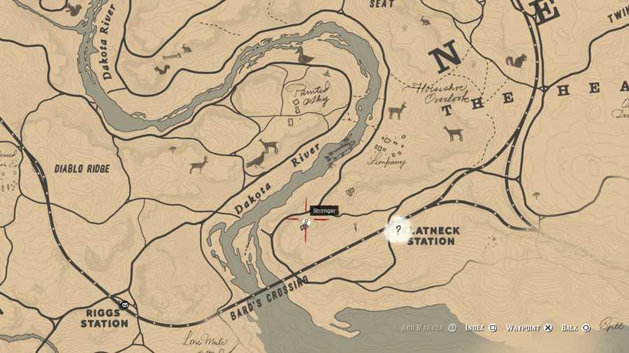 Red Dead 2 Treasure Hunter Location