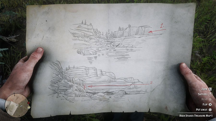 Red Dead Redemption 2 High Stakes Treasure Map