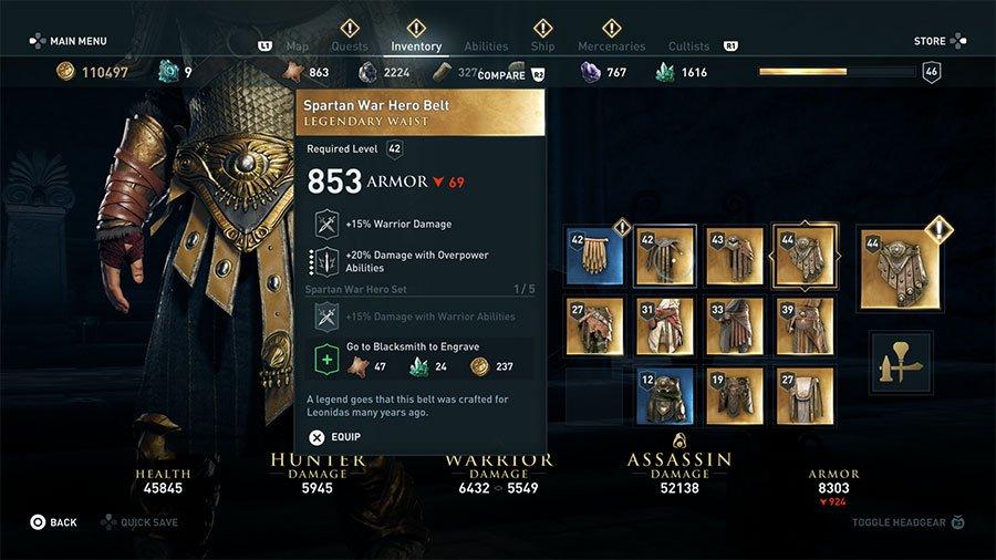Spartan War Hero Belt
