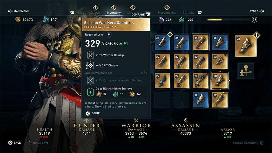 Spartan War Hero Gauntlets