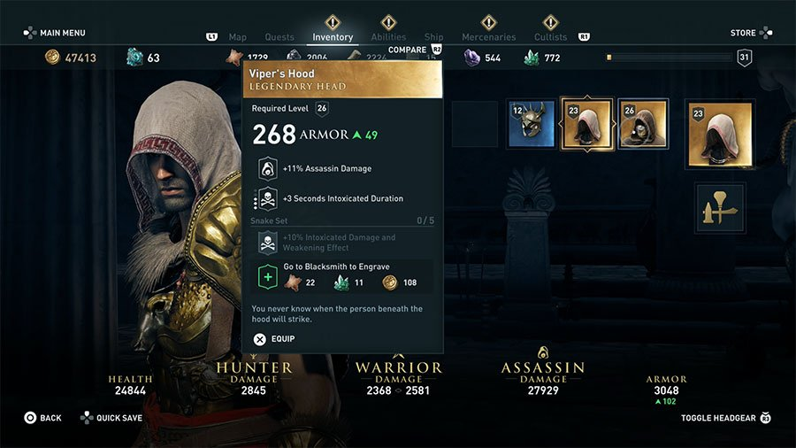Assassin's Creed Odyssey Legendary Armor Guide - GamersHeroes