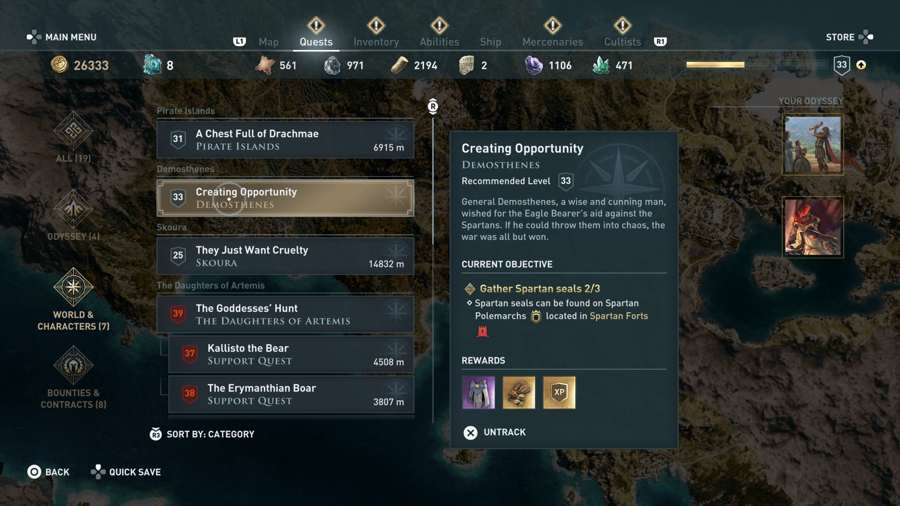 Where To Find Spartan Seals In Assassin's Creed Odyssey
