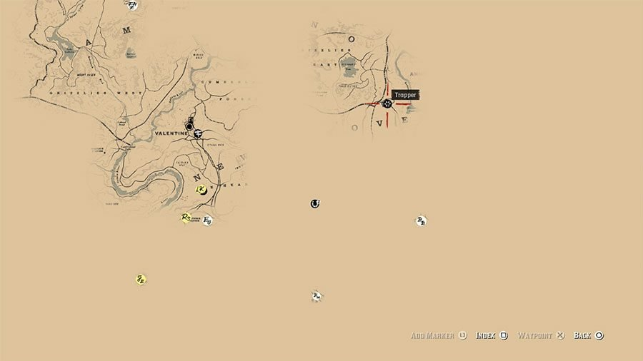 Red Dead Redemption 2 World Map.Where To Find Trapper In Red Dead Redemption 2 Gamersheroes