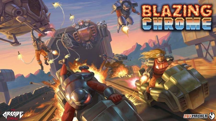 Blazing Chrome Key Art - Gamers Heroes