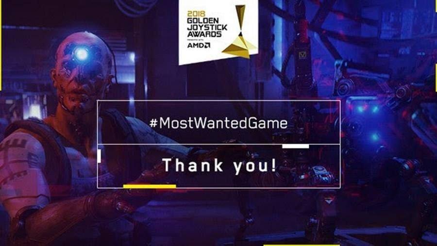 Cyberpunk 2077 Golden Joystick Awards - Gamers Heroes