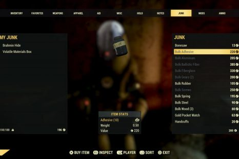 Fallout 76 – Bulk Material Vendor Locations